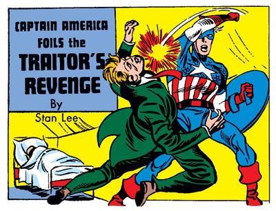 «Captain America foils the traitor's revenge» première histoire de Stan Lee, publiée dans le 5e numéro de Captain America