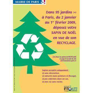 Le prospectus de la mairie de Paris concernant le recyclage des sapins.