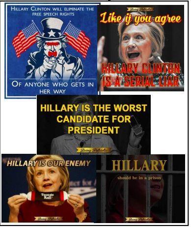 Exemples de mèmes publiés sur Instagram par des comptes créés par l'IRA.