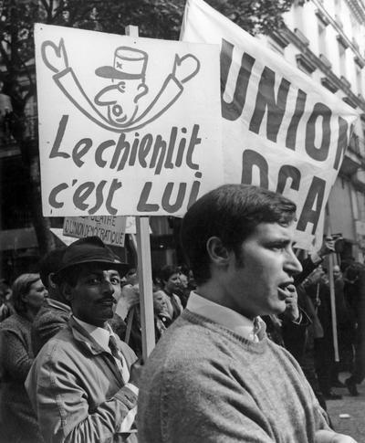 Manifestation de la CGT le 29 mai 1968 à Paris.