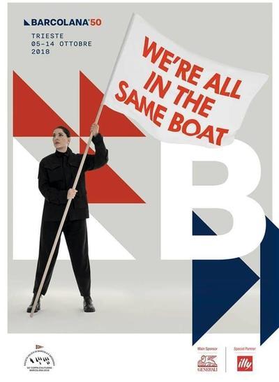 Affiche de l'édition 2018 de la Barcolana, désignée par Marina Abramovic
