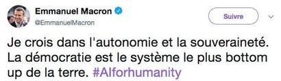 Tweet d'Emmanuel Macron