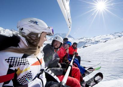 À Val-Thorens, les skieurs ont moins de 40 ans d'âge moyen.