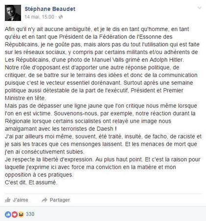 Capture d'écran de la page Facebook de Stéphane Beaudet.