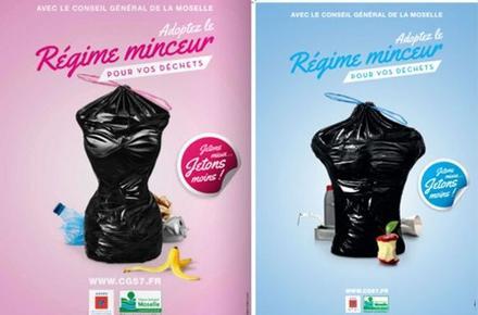 Campagne de publicité du conseil général de la Moselle en mars 2014.