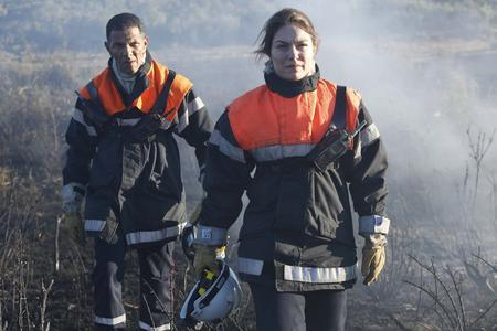 Roschdy Zem et Emilie Dequenne dans «Les hommes du feu».