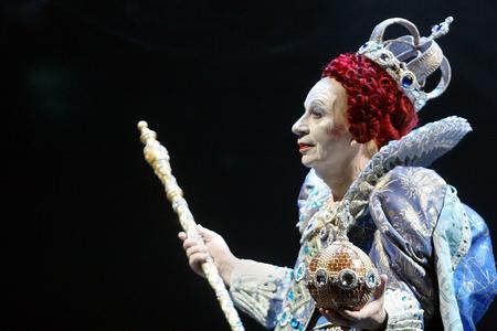 Lindsay Kemp lors du spectacle «Elisabeth Ire, la dernière danse» le 31 mars 2005 à Santander, en Espagne