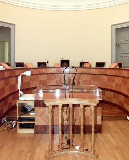 Salle d'audience du tribunal de Saint-Omer, où s'est déroulé le premier procès de l'affaire Outreau.