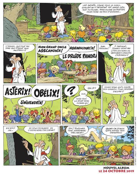 Planche promotionnelle de la 38e aventure d'«Astérix».