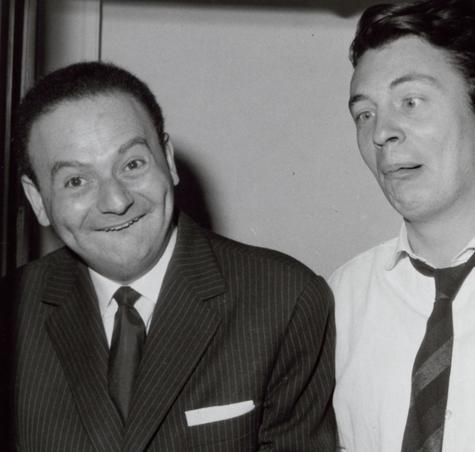 Les facétieux Goscinny et Sempé, au milieu des années 1950.