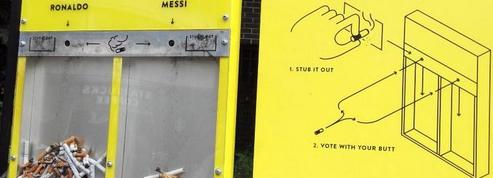 Messi ou Ronaldo ? Les Londoniens élisent le meilleur joueur du monde avec leurs mégots