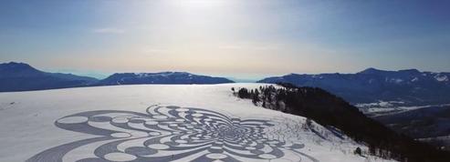 Snow Art: le dessin sur neige qui sublime les pistes