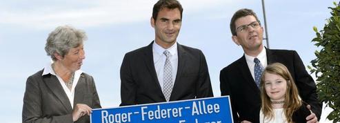Roger Federer inaugure une allée à son nom en Suisse