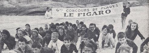 1950 : «Le Figaro sur les plages crée le bonheur à tout âge»