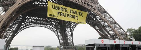 Après l'action de Greenpeace, la sécurité va être renforcée à la tour Eiffel