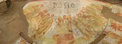 Rome : une fresque du Christ, vieille de 1600 ans découverte dans les catacombes