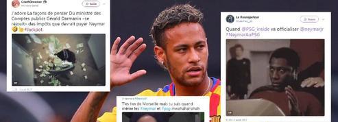 Joie, aigreur et fiscalité... L'arrivée de Neymar au PSG en 10 gifs