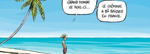 Le dessin d'Ixène: les chômeurs aux Bahamas