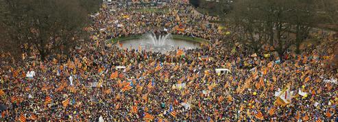 Quelque 45.000 partisans de l'indépendance de la Catalogne ont manifesté à Bruxelles