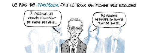 Le dessin d'Ixène: «Zuckerberg au Parlement européen»