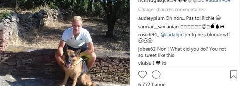Richard Gasquet s'affiche en blond sur les réseaux sociaux