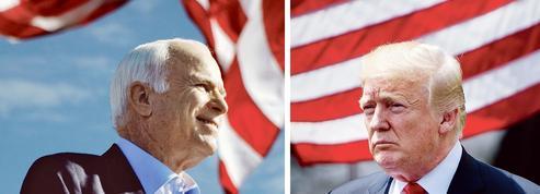 McCain et Trump, le choc des contraires