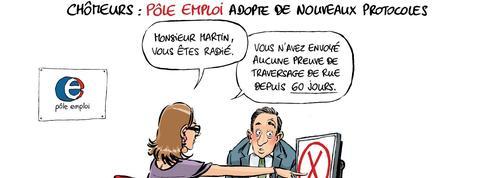 Le dessin d'Ixène: Suite à Macron, Pôle emploi fait évoluer ses méthodes