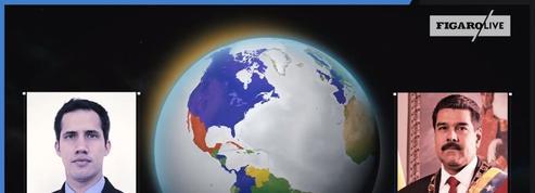 Venezuela: Maduro ou Guaido, quels pays les soutiennent?