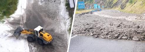 Tour de France: grêle et coulée de boue, les images du chaos qui a stoppé la 19e étape