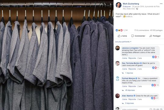 Garde-robe de Mark Zuckerberg