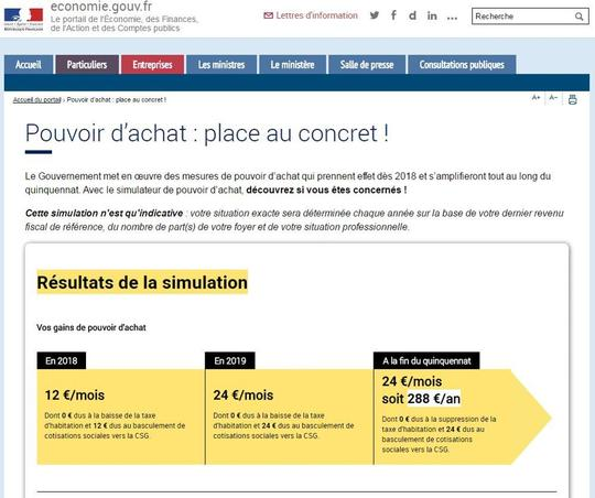 Bercy Lance Un Simulateur Pour Calculer Les Gains De Pouvoir D Achat