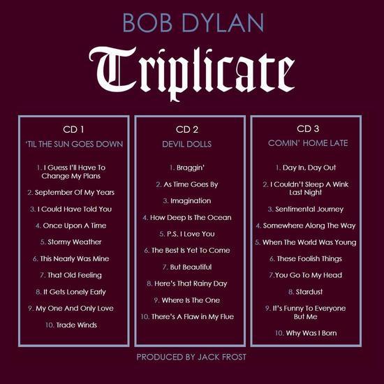 La liste des morceaux présents sur «Triplicate»