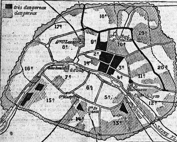 Le fief des Apaches à Paris selon «Le Matin» du 30 septembre 1907.