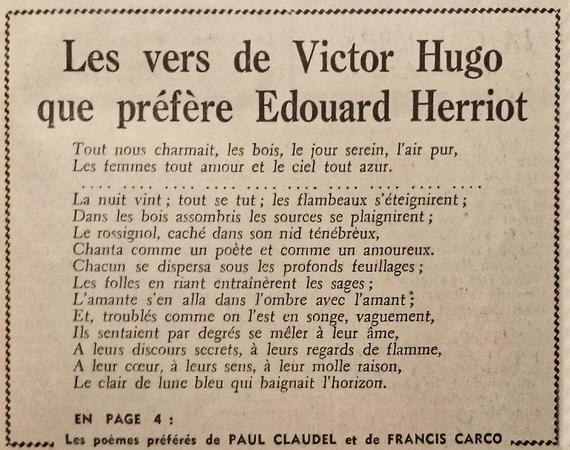 Hugo Vu Par Cinq écrivains En 1952 Char Dutourd