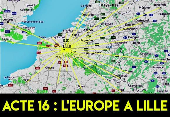 Capture d'écran du groupe «Acte16: l'Europe à Lille».