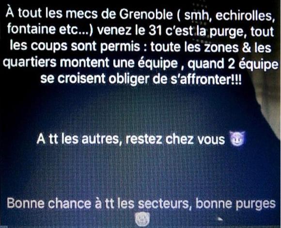 Les quartiers de la ville de Grenoble ont décidé de suivre le mouvement de violence.