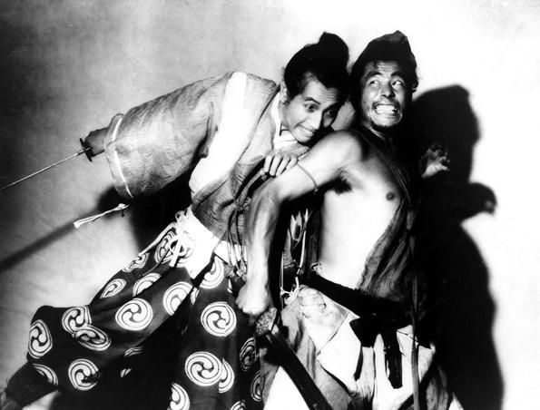 Masayuki Mori et Toshiro Mifune dans «Rashomon», 1950.