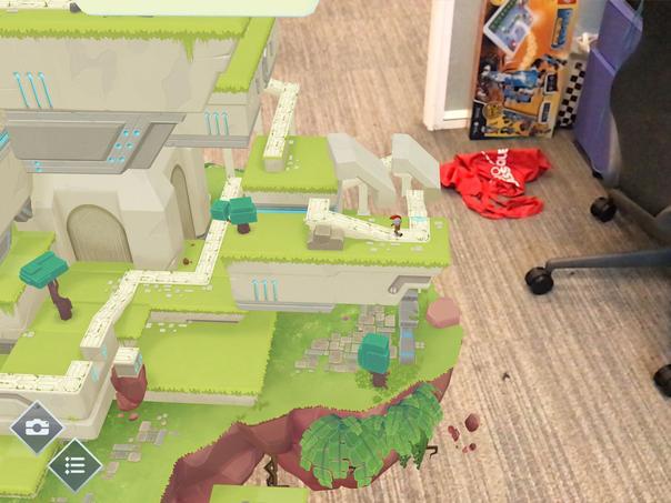Dans ARise, le joueur utilise la perspective pour créer un chemin au personnage.