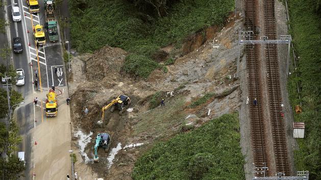 Trois disparus après le passage du typhon Cimaron au Japon
