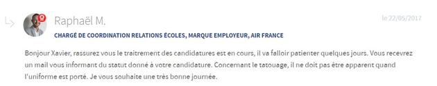Blog carrière du site Air France