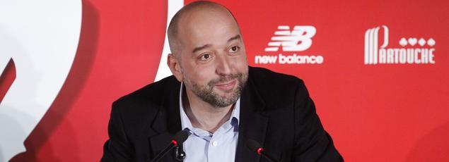 Gérard Lopez en conférence de presse pour présenter son projet le 13 janvier dernier.