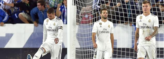 Le capitaine du Real Madrid Sergio Ramos (à gauche) ne semble pas en faveur d'un match de Liga joué aux États-Unis.