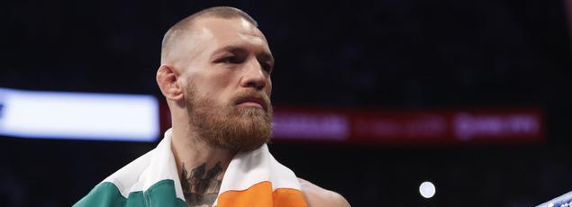Conor McGregor lors de son combat face à Floyd Mayweather