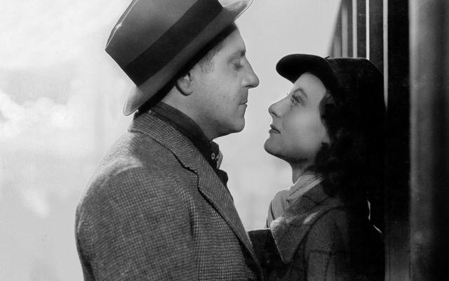 Jean Gabin et Michèle Morgan dans <i>Le Quai des Brumes</i> en 1938