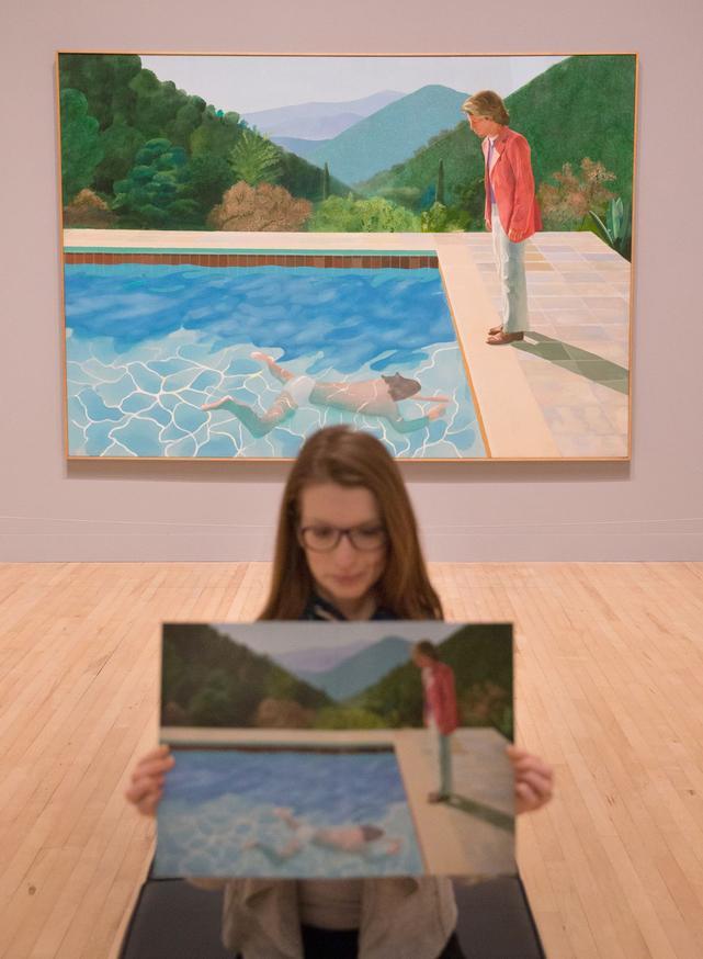 La toile, exposée à la Tate Britain à Londres, au printemps 2017, a été peinte en 1972.
