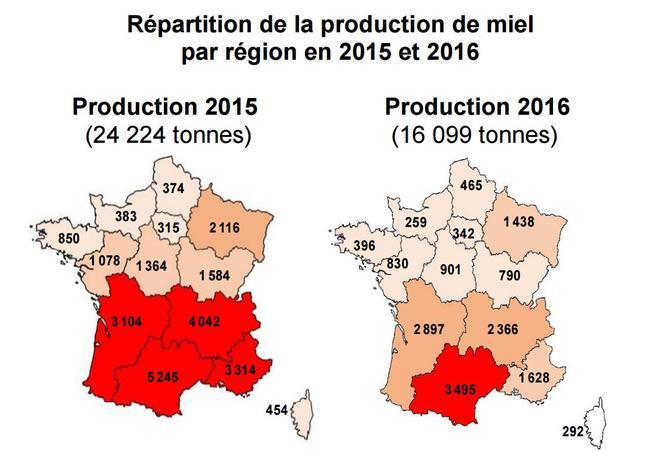 Source: Observatoire de la production de miel et gelée royale FranceAgriMer 2017