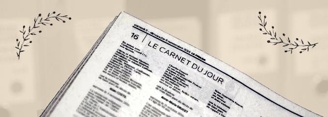 C'est à Jean d'Ormesson que l'on doit le Carnet du jour du Figaro d'aujourd'hui