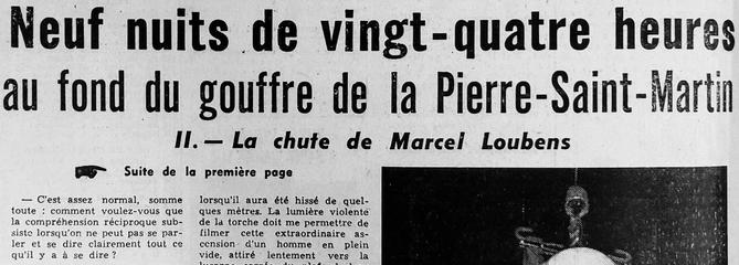 La chute de Marcel Loubens