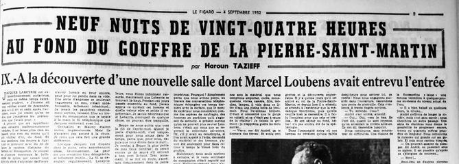 À la découverte d'une nouvelle salle dont Marcel Loubens avait entrevu l'entrée
