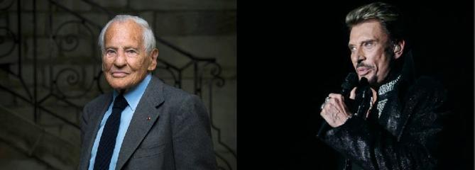 Jean d'Ormesson, Johnny Hallyday : deux sacrés «émerveilleurs»